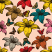 Design - Schmetterling Blumen Stoff (gross) - by Stoff-Schmie.de, read more about this textile design