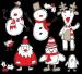 Design - Weihnachten Winter Skizzen - by Andreas Becker, read more about this textile design