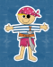 Design - Captain Jack Sparrow - by Pirates of the Bathroom, read more about this textile design