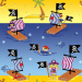 Design - Piraten auf hoher See - by Pirates of the Bathroom, read more about this textile design