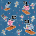 Design - Vintage Piratenstoff - by Pirates of the Bathroom, read more about this textile design