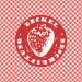 Design - Erdbeer Stoffdeckel kariert - by Deckelstöffla-Aufhübscher, read more about this textile design