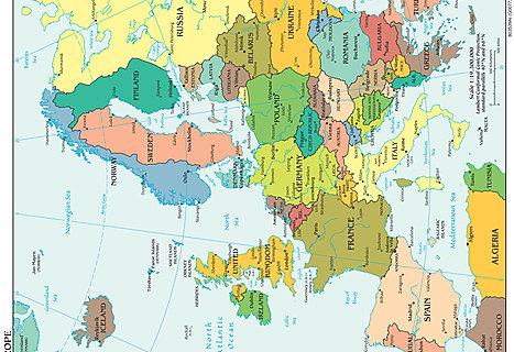 Europa Landkarte Ca 60x45cm Www Stoff Schmie De